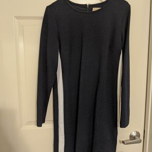 Navy Blue Michael Kors Knit Bodycon Dress